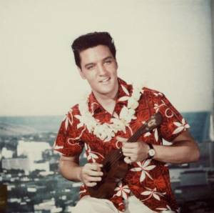 Elvis Presley plucking in 'Blue Hawaii'